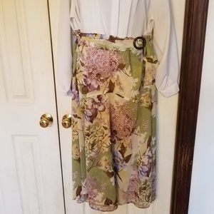 Requirements Floral Print Skirt